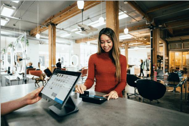 Retail - GIrl Customer At Counter